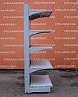 Торговые односторонние (пристенные) стеллажи «Колумб» 200х100 см., (Украина), темно-серый, Б/у, фото 6