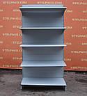 Торговые односторонние (пристенные) стеллажи «Колумб» 200х100 см., (Украина), темно-серый, Б/у, фото 2