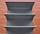 Торговые односторонние (пристенные) стеллажи «Колумб» 200х100 см., (Украина), темно-серый, Б/у, фото 7