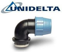 Колени для полиэтиленовых труб UNIDELTA