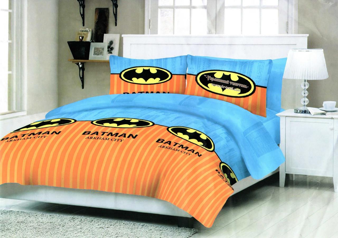 Комплект постільної білизни підлітковий Бетмен