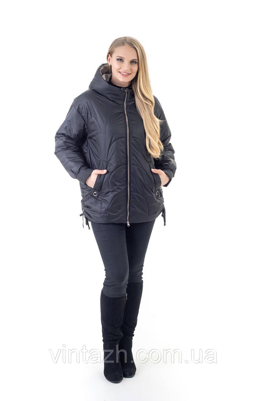 Женская удобная деми куртка размер 46-56