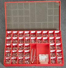 Свинцовые маркировочные знаки №2 (буквы) + №6 (цифры) в одном наборе. По 50 шт каждого знака. Латиница.