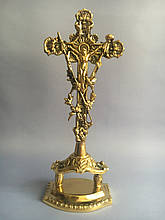 Крест крестьянский настольный из бронзы