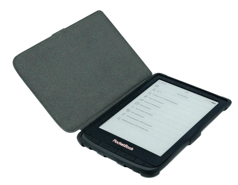 Чехол для PocketBook 616 фиолетовый - открыт
