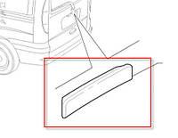 Накладка декоративная крышки багажника Doblo