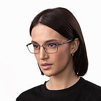 Очки компьютерные IQ Vision QUAD женские в прочной и стильной оправе темно-серые (2021)