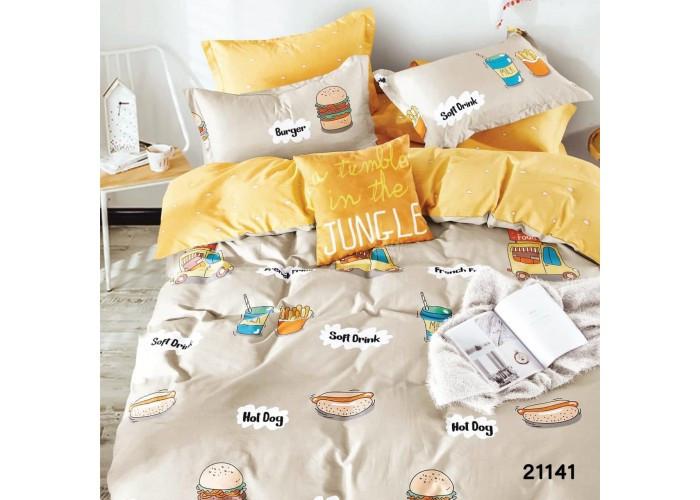 Комплект постельного белья подростковый ранфорс 21141