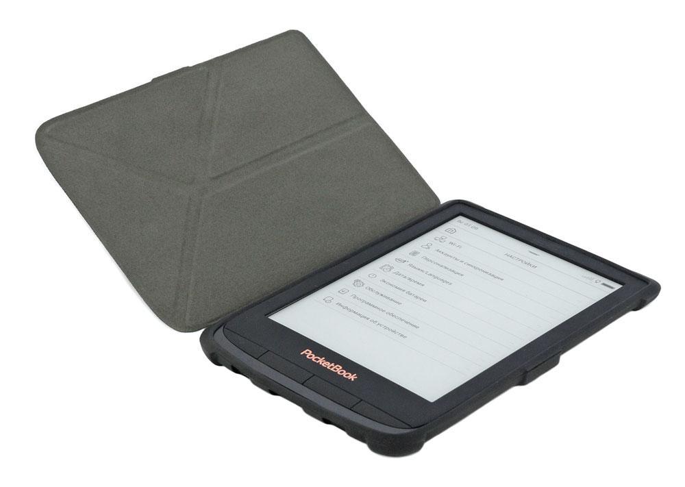 Чохол для PocketBook 616 Basic Lux 2 трансформер чорний - open