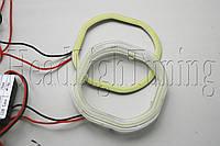 """Ангельские глазки светодиодные LED-COB SQR - квадратные 80мм., для биксеноновых линз 2,5"""" (⌀64мм)"""