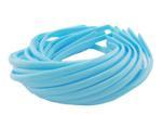 Обруч для волос пластиковый матовый простой 8 мм. Голубой