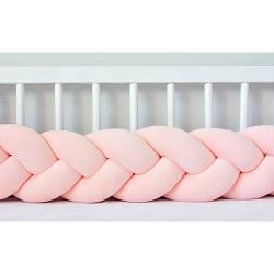 Бортик в кроватку Хатка Косичка Персиковый 120 см (одна сторона кроватки)