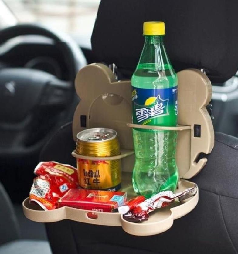 Складывающийся столик в машину для напитков Медвежонок