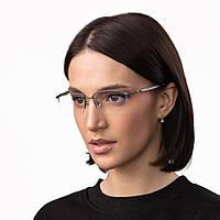 Очки компьютерные IQ Vision QUAD-SEMI женские в полу-оправе тёмно-серые (2021)