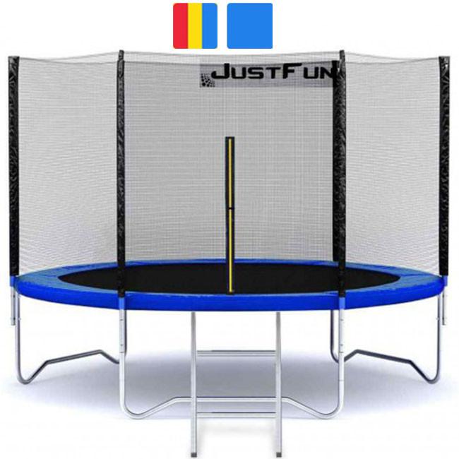 Батут 312 см Just Fun з сіткою і драбиною для дітей і дорослих