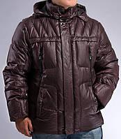 Натуральный зимний мужской пуховик