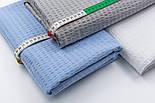 Лоскут бавовняної тканини жатки білого кольору, розмір 78*45 см, фото 4