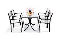 """Комплект мебели для дачи """"Стелла"""" стол (120*65) + 4 стула  Белый, фото 1"""