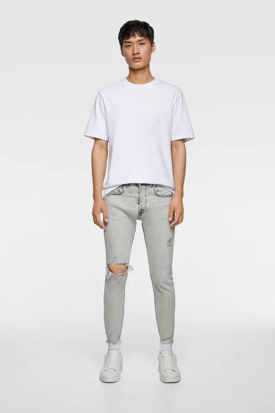 Джинсы мужские Zara белые (6688 361 802)