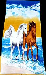 Полотенце пляжное Лошадки