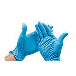 Рукавиці нітрильні Kieyyel неопудрені розмір L 100 шт. — 50 пар сині, фото 3