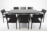 """Комплект меблів для дачі """"Брістоль"""" стіл (180*80) + 8 стільців Венге, фото 1"""