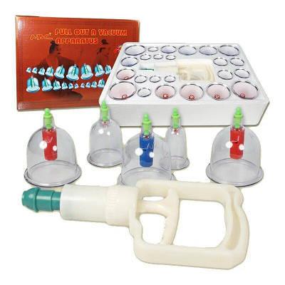 Вакуумные массажные антицелюлитные банки 24 шт Kangling Pull Out A Vаcuum Apparatus Cupping Massager 184790