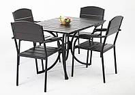 """Комплект меблів для дачі """"Феліція"""" стіл (120*80) + 4 стільця Венге, фото 1"""