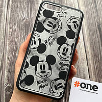 Чехол для Apple iPhone 7 Plus с принтом микки маус накладка под кожу чехол на айфон 7 плюс черный