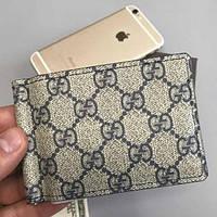 Мужской кошелек Gucci Гуччи Зажим для денег Брендовый из экокожи кошелек Удобный Качественный и стильный