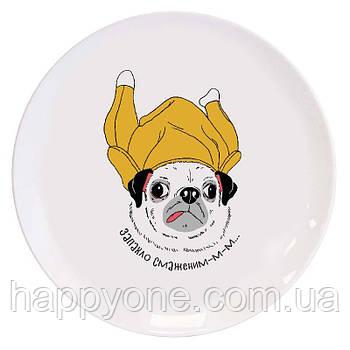 Тарелка Chiken Pug