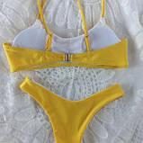 Женский купальник  раздельный с топом  голубой размер - голубой, желтый, бордо, белый, фото 6