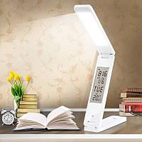 Аккумуляторная настольная светодиодная лампа трансформер Белая 18 LED