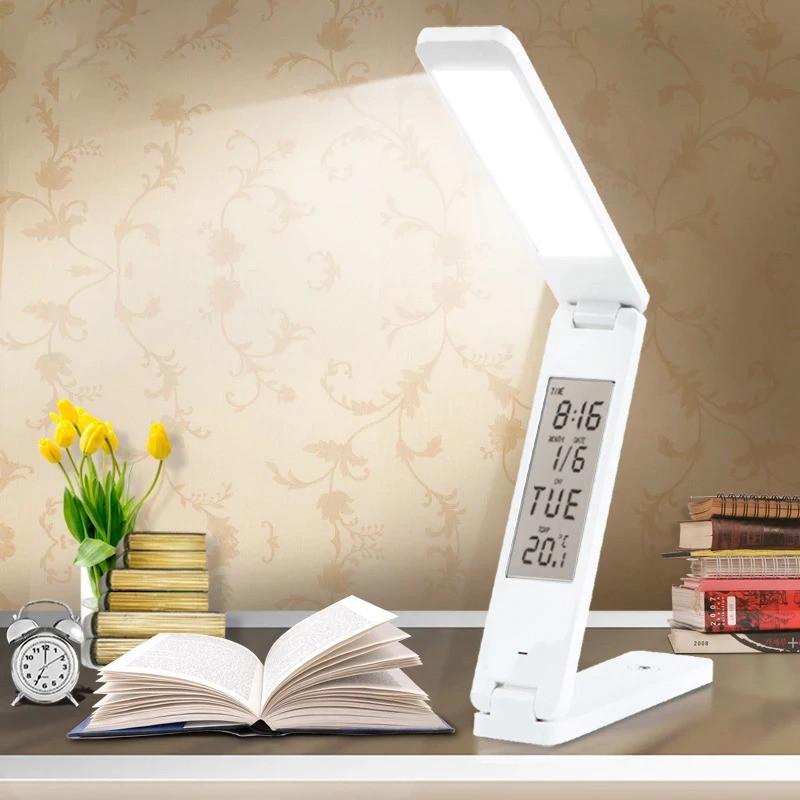 Настольная светодиодная лампа на аккумуляторной батареи трансформер Белая 18 LED