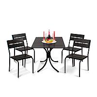 """Комплект меблів для літніх майданчиків """"Ріо Плюс"""" стіл (120*80) + 4 стільця Венге, фото 1"""