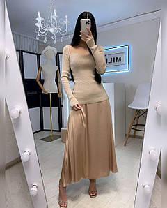 Женская длинная юбка из шелка Агния 42-44 р