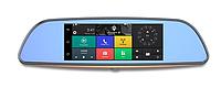Автомобильный видеорегистратор зеркало навигатор сенсорный с камерой GPS WIFI черный D35 3G LCD 7.