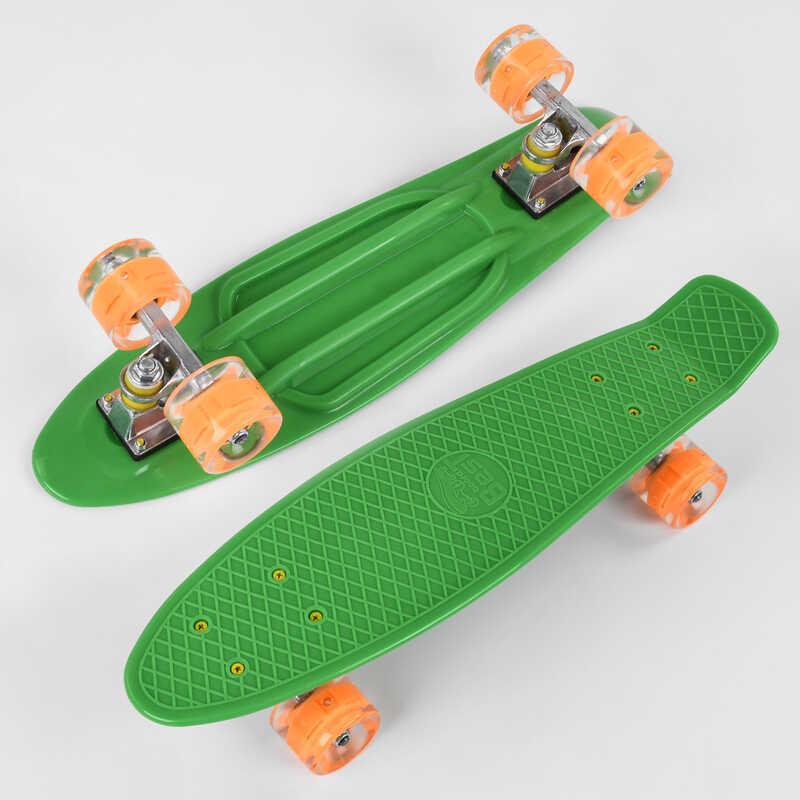 Скейт Пенни борд 1705 (8) Best Board, доска=55см, колёса PU со светом, диаметр 6см