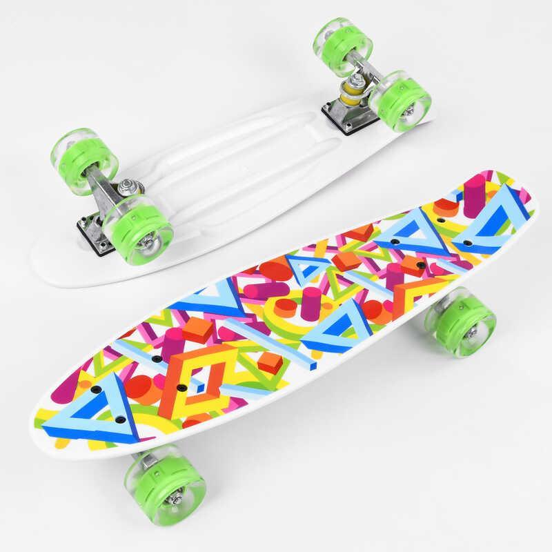 Скейт Пенні борд Р 10765 (8) Best Board, дошка=55см, колеса PU, СВІТЯТЬСЯ, d=6см