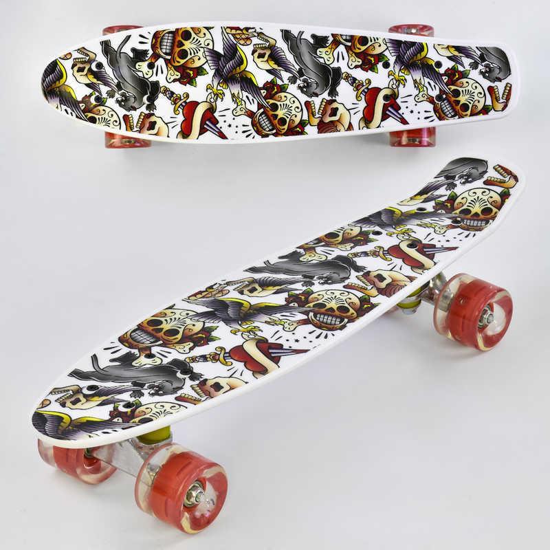 Скейт Р 14209 (8) Best Board, доска=55см, колёса PU, СВЕТЯТСЯ, d=6см