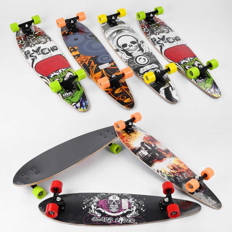 Скейт-лонгборд З 32027 (6) 6 видів, підшипник АВЕС-9, колеса PU, d=6.5 см