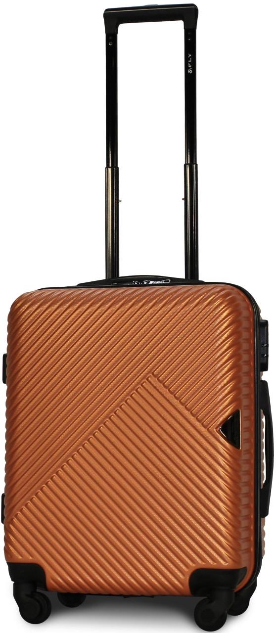 Чемодан пластиковый на 4х колесах малый  S оранжевый | 23х55х37 см | 3.150 кг | 35 л | FLY 2702