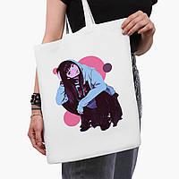 Еко сумка шоппер біла Дівчина (Girl) (9227-2836-3) 41*35 см, фото 1