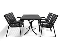 """Комплект меблів для літніх майданчиків """"Таї"""" стіл (120*80) + 2 стільця + лавка Венге, фото 1"""