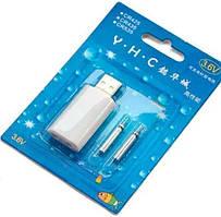 Акумулятори CR425 3В, 2 шт, USB зарядним пристроєм