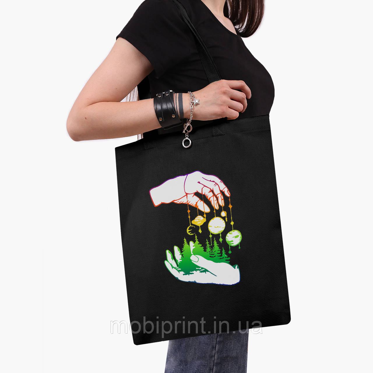 Эко сумка шоппер черная Искусство (Art) (9227-2843-2)  41*35 см