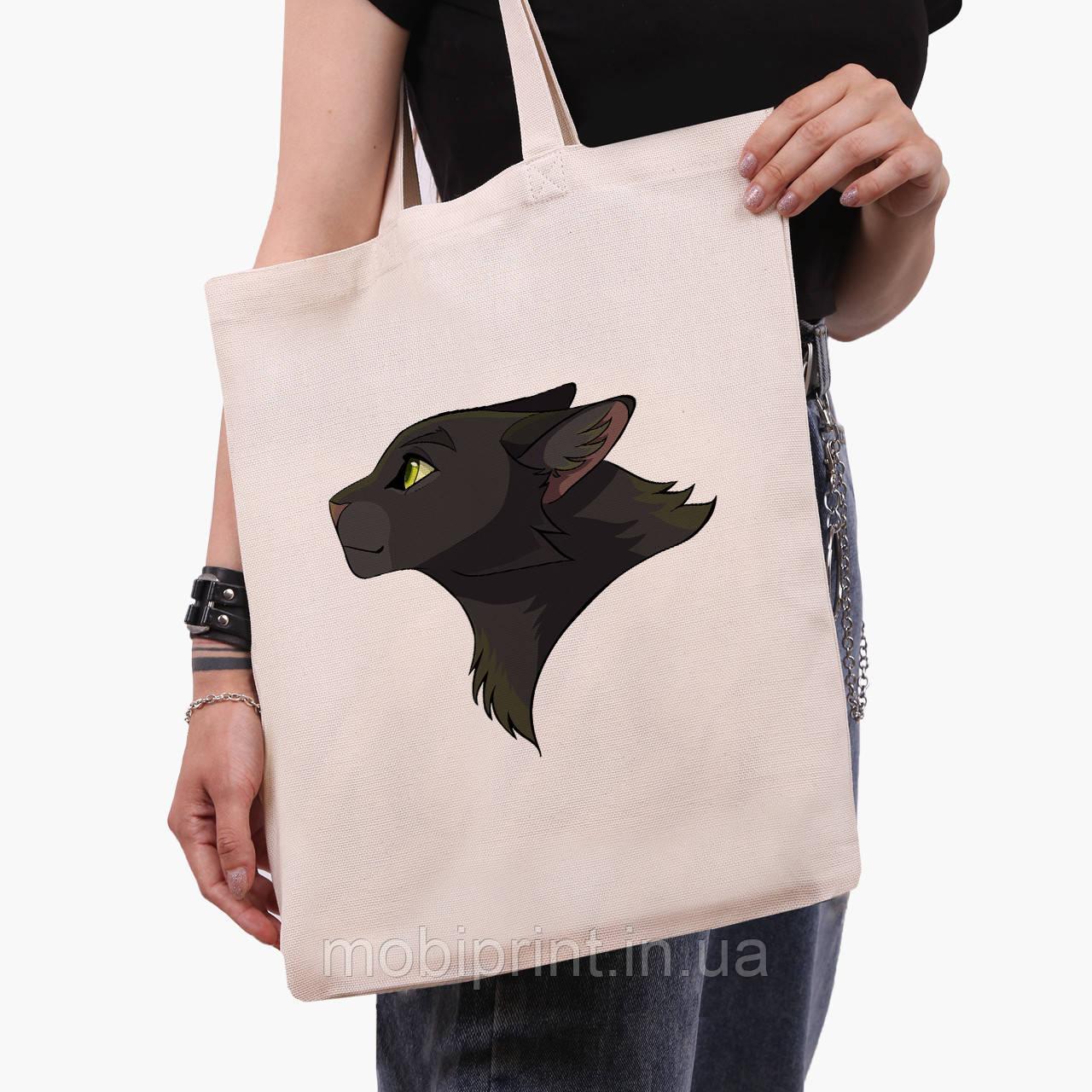 Еко сумка шоппер Чорна пантера (Black panther) (9227-2844) 41*35 см