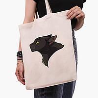 Еко сумка шоппер Чорна пантера (Black panther) (9227-2844) 41*35 см, фото 1