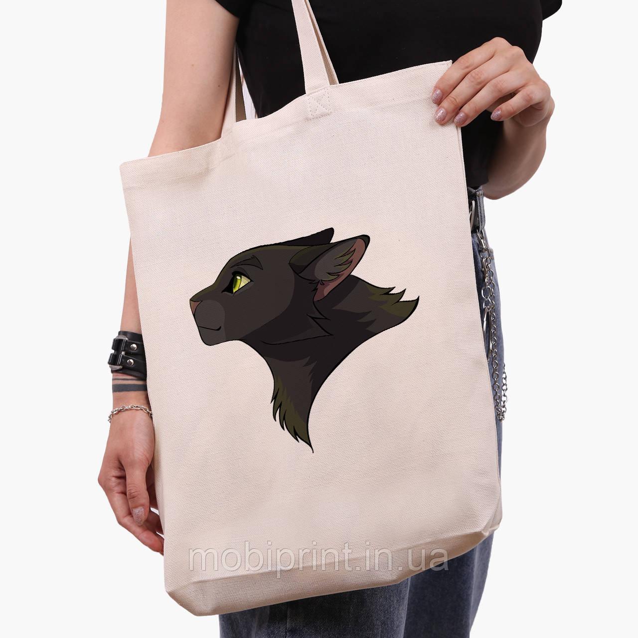 Эко сумка шоппер белая Черная пантера (Black panther) (9227-2844-1)  41*39*8 см