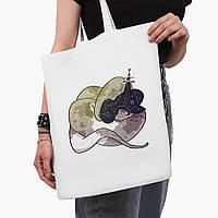 Еко сумка шоппер біла Магічна змія (Magic snake) (9227-2848-3) 41*35 см, фото 1